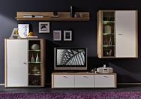 Obývací pokoj Monza 6 (5-diy.), Sonoma dub/ bílý