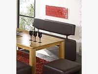 Lavice Ibiza s opěradlem srnčí hnědá, 140cm