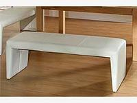 Lavice Ibiza bez opěradla, bílá, 160cm