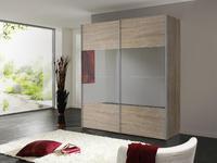Skříň s posuvnými dveřmi FOUR YOU Sonoma dub/ šedé zrcadlo