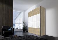 Skříň s posuvnými dveřmi FOUR YOU Sonoma dub/ bílé sklo