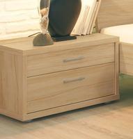 Noční stolek Plus-2, 2-šuplíky, přírodní buk