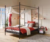 Kovová postel s nebesy Manege, černá