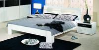 Futonová postel Plus-2 alpin bílá/ čelo postele s mléčným sklem a osvětlením