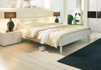Futonová postel Plus-2 alpin bílá, čelo postele s mléčným sklem a osvětlením