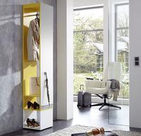 Kompaktní designová předsíň 3497 (143), bílá/ žlutá
