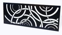 Designový plot Kruhy