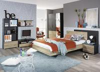 Studentský pokoj Broome (6dílný), kovově šedá/SanRemo dub