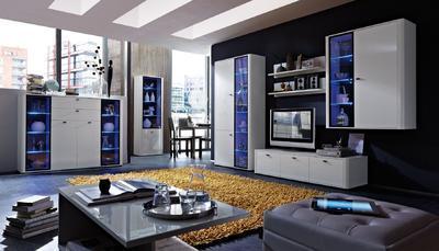 Obývací pokoj Monza 4 (7-dil.), bílý - 1