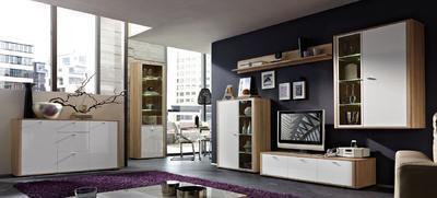 Obývací pokoj Monza 8 (7-dil.), Sonoma dub/ bílý - 1