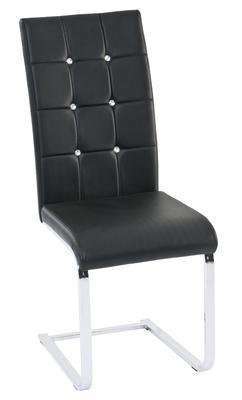 Kývací židle Tiffany, chrom/ černá
