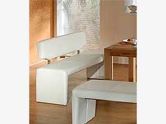Lavice Ibiza s opěradlem, bílá, 160cm