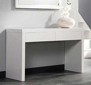 Odkládací stolek HighGloss bílá/vysoký lesk 120x40x70cm