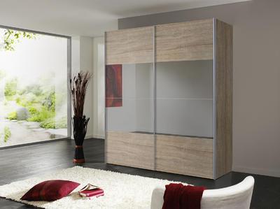 Skříň s posuvnými dveřmi FOUR YOU Sonoma dub/ šedé zrcadlo - 1