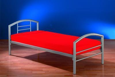 Kovová postel Arena I 90x200, stříbrná