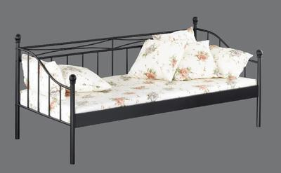 Kovová postel Linda 90x200, černá