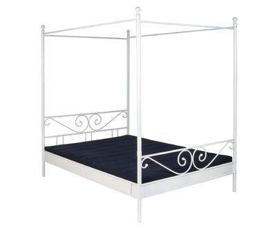 Kovová postel s nebesy Manege, bílá