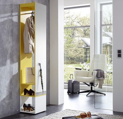 Kompaktní designová předsíň 3497 (143), bílá/ žlutá - 1