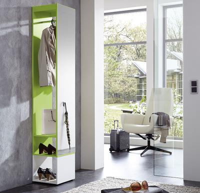 Kompaktní designová předsíň 3497 (181), bílá/ zelená - 1