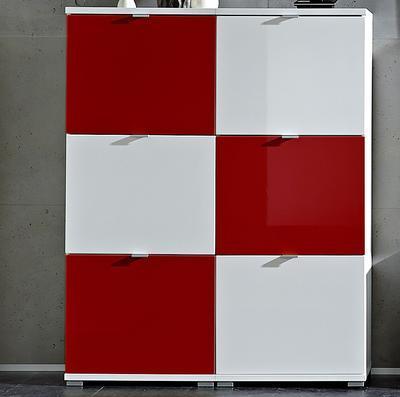 Botníková kombinace Colorado bílý/červený, vysoký lesk - 1
