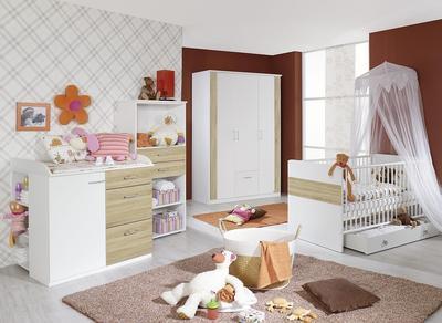 Dětský pokojíček Tiana alpin bílá/ Sonoma dub - 1