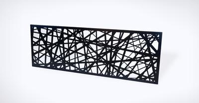 Designový plot Pavučina II