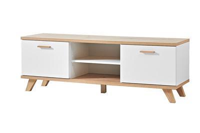TV stolek GW-Oslo 3219 (221), bílý/ SanRemo dub - 1