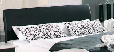Ložnice Juwel alpin bílá s černým sklem - 2