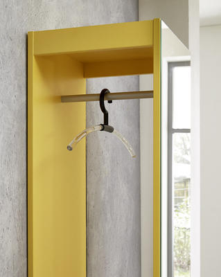 Kompaktní designová předsíň 3497 (143), bílá/ žlutá - 2