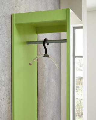 Kompaktní designová předsíň 3497 (181), bílá/ zelená - 2