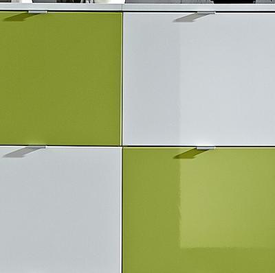 Botníková kombinace Colorado bílý/ zelený, vysoký lesk - 2