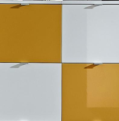 Botníková kombinace Colorado bílý/oranžový, vysoký lesk - 2