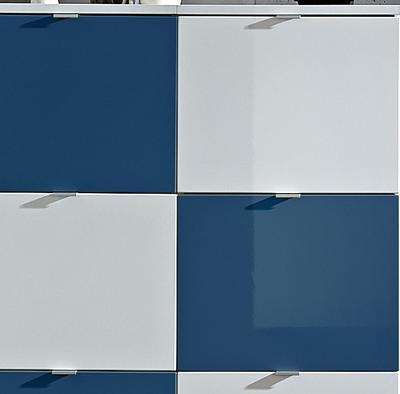 Botníková kombinace Colorado bílý/petrolový, vysoký lesk - 2