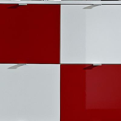 Botníková kombinace Colorado bílý/červený, vysoký lesk - 2
