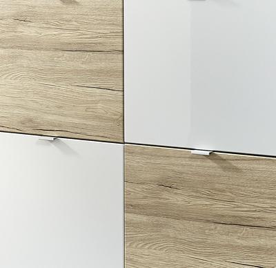Botníkové kombinace Colorado, bílá/ Sonoma dub - 2