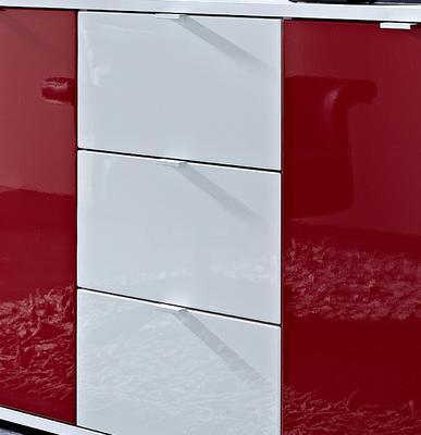 Komoda Colorado 3455, bílý/ červený - 2