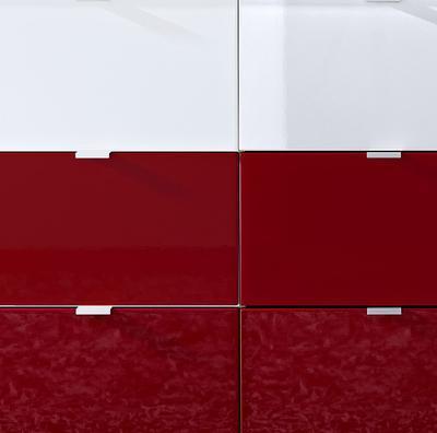 Komoda Colorado 3454, bílá/ červená - 2