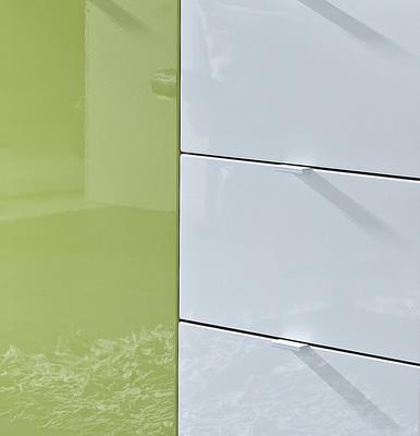 Komoda Colorado 3454, bílá/ zelená - 2