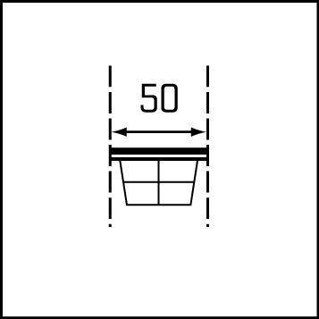 Vytahovací drátěný koš DE LUXE 50 - 2
