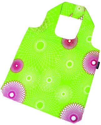 reisenthel mini maxi shopper crystals lime green - 2