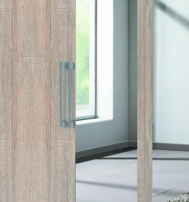 Šatní skříň BROOKLYN 4dveřová se zrcadlem, Sonoma dub - 2