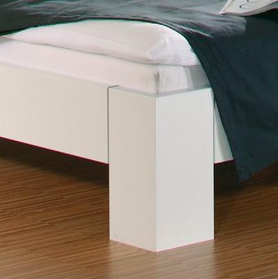 Ložnice Juwel alpin bílá s černým sklem - 3