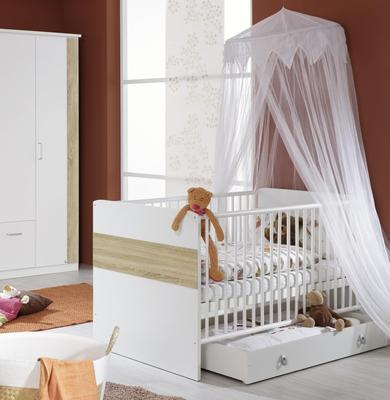 Dětský pokojíček Tiana alpin bílá/ Sonoma dub - 3