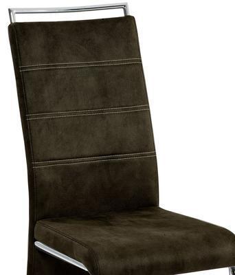 Jídelní židle Milano, tmavě hnědá - 3