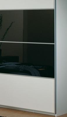 Ložnice Juwel alpin bílá s černým sklem - 4