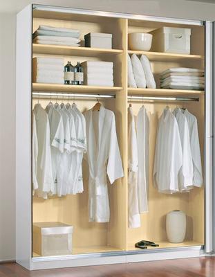 Šatní skříň s posuvnými dveřmi Savoy alpin bílá/ krystalově bílé sklo - 4