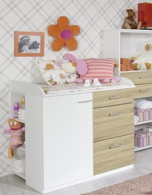 Dětský pokojíček Tiana alpin bílá/ Sonoma dub - 4