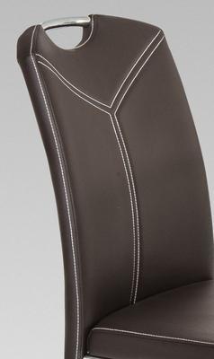 Jídelní židle Marina, tmavě hnědá - 4