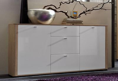 Obývací pokoj Monza 8 (7-dil.), Sonoma dub/ bílý - 6