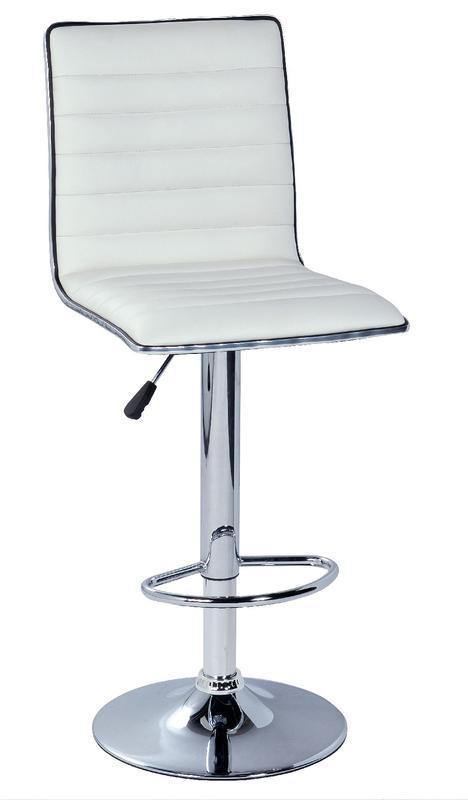 LIVING Barová židle Benita, chrom/ bílá
